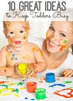 10 great ideas that will keep your toddlers busy for more than 10 minutes. From crafts to quiet time activities - and things mom doesn't need to help with - great ideas for toddlers! {pacific kid}