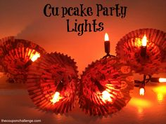 Charming Cupcake Cup Party Lights {Dollar Store Halloween Craft}