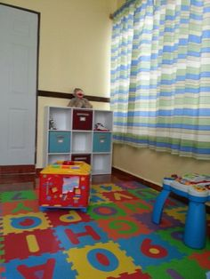 Sock Monkey Playroom