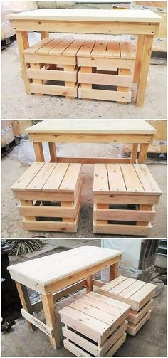 The most used item in any home is usually the set of a table and chairs, because these things are not used for a single purpose only but they are used for multipurpose like eating the meals and even studying etc. so making a set of chairs and a table from the wooden pallet is totally worth it.
