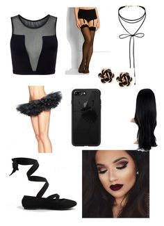 """""""Black Swan. (UPDATED IT)"""" by n4t41i3 on Polyvore featuring moda, Varley, New Look, Miss Selfridge, Chantecler y Wolford"""