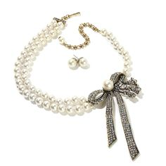 """Heidi Daus """"Distinctive Beauty"""" Necklace and Earrings"""