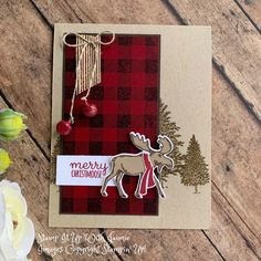 Stampin' Up! Merry Moose Video Tutorial – Stamp It Up with Jaimie Stampin' Up! Merry Moose Video Tutorial – Stamp It Up with Jaimie Fall Cards, Winter Cards, Xmas Cards, Holiday Cards, Homemade Christmas Cards, Stampin Up Christmas, Homemade Cards, Christmas Tag, Stampin Up Weihnachten