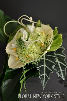 White anthurium fresh flower arrangement #55 by FLORAL NEW YORK, via Flickr