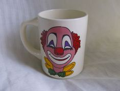 Clown Coffee Mug Colorful and Cute, Vintage Cup, Made in USA by MendozamVintage on Etsy