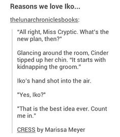 Iko is totally okay with kidnapping world leaders. I laughed do much when I read this!! XD!