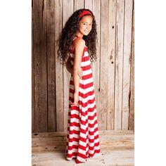 Paris Striped Maxi Dress