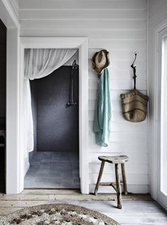 #interior #decor #styling #entryway #rustic #natural #white #grey