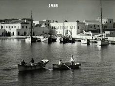 Mykonos photos Photos by Theoklitos Triantafyllidis, by dimitris koutsoukos Mykonos, Vintage Pictures, Old Pictures, Old Time Photos, Athens Greece, Greek Islands, Historical Photos, Boat, Black And White