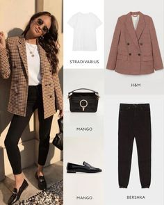 Awesome full bows for fall Обалденные полные луки на осень 3 Awesome full bows for fall 3 - Retro Outfits, Classy Outfits, New Outfits, Fashion Outfits, Business Casual Outfits, Casual Winter Outfits, Look Fashion, Urban Fashion, Casual Fashion Trends