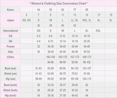 WomenS International Shoe Size Conversion Chart US Canada
