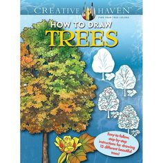 NEW! Dover Publications-Creative Haven: How To Draw Trees