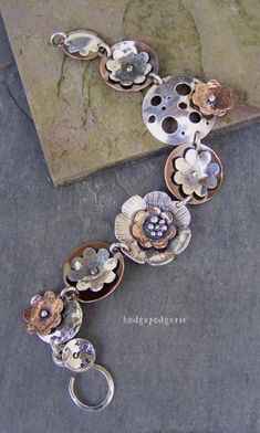 Bracelet |  Stacy Perry - Hodgepodgerie Designs.  Metal Garden Bracelet