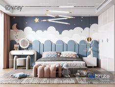 Luxury Kids Bedroom, Cool Kids Bedrooms, Childrens Bedroom Ideas, Modern Kids Bedroom, Baby Room Design, Home Room Design, Interior Exterior, Room Interior, Kids Room Paint