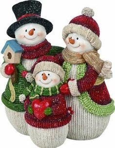 Snowman - Family Of Three Christmas Baby, Christmas Snowman, Christmas Themes, Holiday Crafts, Christmas Holidays, Christmas Wreaths, Christmas Decorations, Xmas, Christmas Ornaments