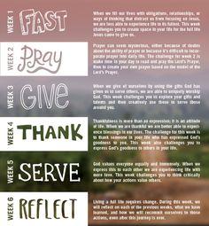 World Vision Acts Lenten Journey, beginning Feb. 13th