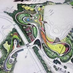 요레조레해보능데...한잔마시고#developing Bs #Environmental #Design #Group #LandscapeArchitecture & #Associates #sketch #drawing #plan #note #conceptplan