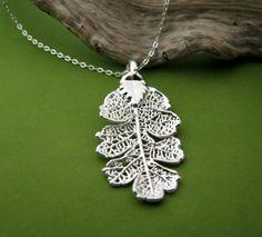 oak leaf necklace $28