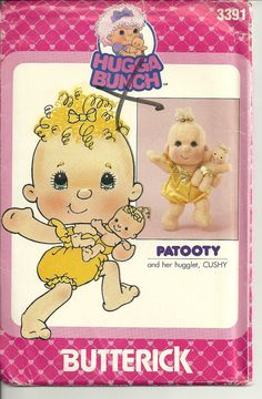 Vintage+Hug+a+Bunch+Doll+Pattern+/+1980s+Toys+/+by+TheHomeGnome,+$15.00