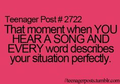 That moment..... with the perfect song.