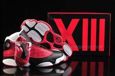 733faa38ea46c9 Air Jordan Homme Nouveau Nike Air Jordan 13 XIII Retro Hommes Noir Rouge  Blanc Cheap Jordans