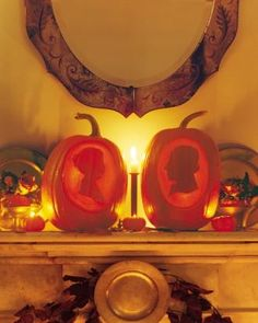 How to make pumpkin silhouettes for Halloween.