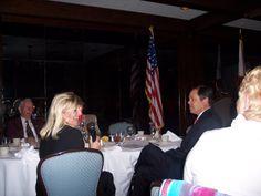 Lynn and Steve at a banquet