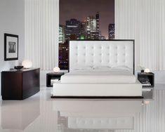 Luxus hálószoba fehérben Small Bedroom Interior, Bedroom With Bath, Dining Bench, Interior Design, Modern, Furniture, Home Decor, Black, Interior Design Studio