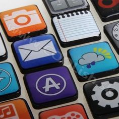 App Magnets, Set of 18 New Mobile, Mobile App, Gadget Gifts, Magnets, Geek Stuff, Cool Stuff, Iphone App, Apps, Tech