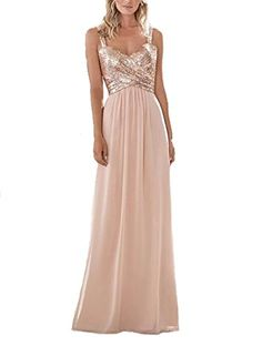 f1c83677214 Shop a great selection of Firose Firose Women s Sequined Sweetheart  Backless Long Chiffon Bridesmaid Dresses. Find new offer and Similar  products for Firose ...