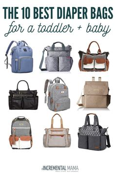 Looking for a diaper bag for two kids? Here are the 15 best diaper bags for a toddler and newborn. Find backpacks, purses, messenger bags, and options for your budget. bags The 10 Best Diaper Bags for a Toddler and Newborn - The Incremental Mama Toddler Diaper Bag, Cute Diaper Bags, Large Diaper Bags, Diaper Bag Checklist, Diaper Bag Essentials, Diper Bags, Best Backpack Diaper Bag, Bag Sewing, Pregnancy
