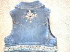 Bedazzled vest back
