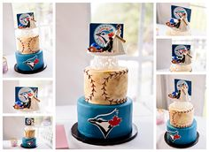 Photos of a Blue Jays baseball wedding cake and a reminder to vote! Baseball Wedding Cakes, Baseball Party, Baseball Cakes, Sports Wedding, Our Wedding, Wedding Stuff, Wedding Ideas, Baseball Dress, Cupcake Cookies