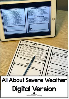 All about severe weather activities for 2nd graders includes this handy product that discuses natural disasters and how to prepare for bad weather during a watch and a warning. All About Severe Weather Digital Version is the same interactive reader but now can be used in your one-to-one or digital center classrooms. Click on the link to find out more.
