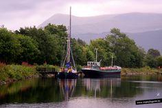 Corpach es un pequeño pueblo a solo 2 millas de Fort William, donde acaba el Canal de Caledonia que viene desde Inverness.