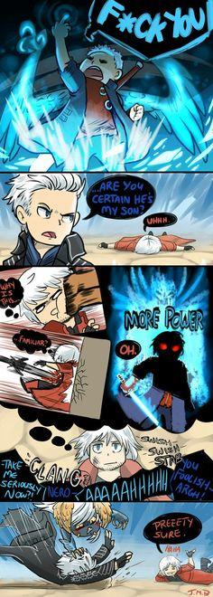 Yes, Dante is right Vergil Vergil Dmc, Dante Devil May Cry, Dmc 5, Video Game Memes, Gaming Memes, Dark Souls, Funny Games, Resident Evil, Rwby
