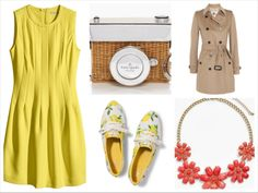 Trench Coat Series TC. Burberry brit Dress. H&M Bag & sneakers. Kate Spade NY Necklace. Stephan &co