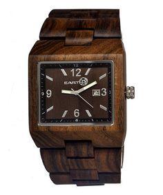 Look what I found on #zulily! Dark Brown Rhizomes Wood Bracelet Watch - Men #zulilyfinds