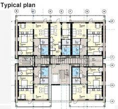 Treet. План типового этажа © Rune Abrahamsen