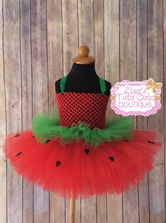 Beautiful Strawberry Pageant Tutu Dress. Can be made up to a girls size 10. Follow me on Facebook. Facebook.com/tutusbylisa
