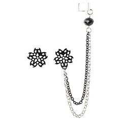 Black Veil Brides Logo Cuff Earring Set Hot Topic ($7.12) ❤ liked on Polyvore featuring jewelry, bride jewelry, black jewelry, kohl jewelry, logo jewelry and black jet jewelry
