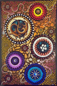 Chern'ee Sutton Aboriginal Art Animals, Aboriginal Painting, Aboriginal People, Dot Painting, Painting & Drawing, Indigenous Australian Art, Stippling Art, Animal Templates, Netball