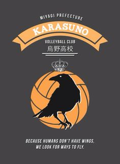 Karasuno high school volleyball club poster