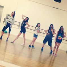 Cimorelli rehearsal! ( Christina was in the bathroom )