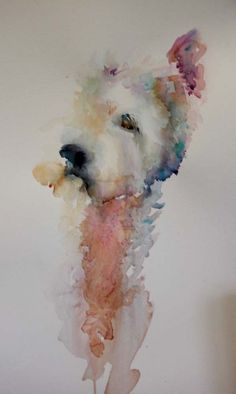 The Magic of Watercolour Painting Virtual Gallery - Jean Haines, Artist - Dogs - this looks like my dog!!!