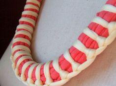 Necklace ZULU tshirt yarn recycled yarn por southstreet en Etsy