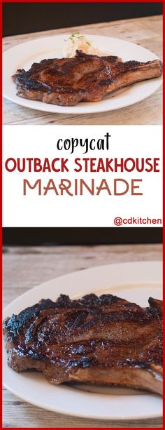 grilled steak marinades Copycat Outback Steakhouse Marinade - This marinade starts with a good quality ale and adds some seasonings for a delicious steak just like you get at po Steak Marinade For Grilling, Steak Marinade Recipes, Meat Marinade, Marinated Steak, Beef Recipes, Cooking Recipes, Steak Marinades, Cat Recipes, Gastronomia