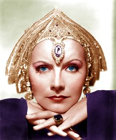 Garbo from Mata Hari (1932). She wore a few outrageous costumes, many turbans,and  austere dark dresses and boots in this film about the WWI spy. Some of her chicest film looks.