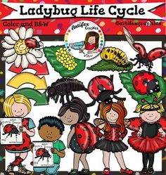*50% off for the first 48 hours*Ladybug Life Cycle clip art set features 40 items: 21 clip arts in color. 19 clip arts in black & white.All images are 300dpi, Png files.This clipart license allows for personal, educational, and commercial small business use.