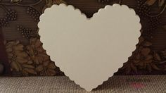 100 Large Ivory Die Cut Scallop Hearts, Bride And Groom Advice Hearts by thingsbyjuju 19.00 Ready to ship!